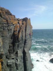 I.Williams, The Cull E3 5b, Bass Point, The Lizard, Cornwall.