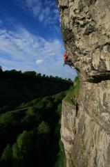 Julian Heath, The Spider, 8a, SirPlum buttress, Cheedale