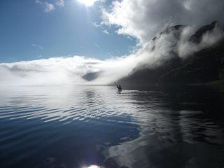 Kayaking up Loch Nevis to do a few hills in Knoydart.