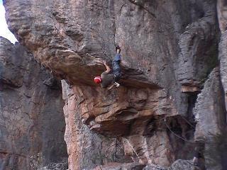 rr on 'The flashing blade' 25 @ Mount Arapiles