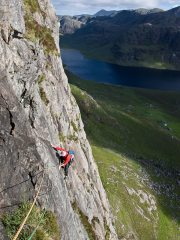 Fionn Buttress, pitch three