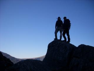 Me & Stu in Snowdonia on clear day in Febuary