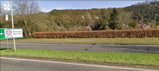 The Whites as Seen from the A24