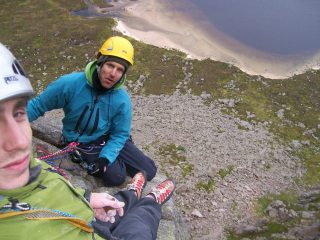 looking down on dubh loch, can you spot the tent?