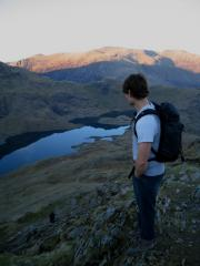 Contemplating the descent.