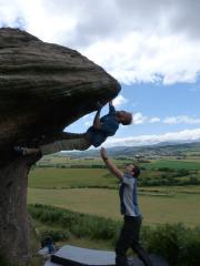 New 7b roof first ascent.