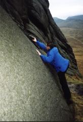 The boulder start to 'Escalator Direct'