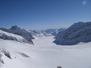 View from the Jungfraujoch Grindlewald