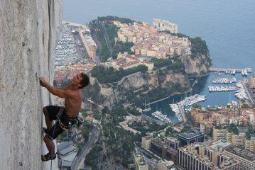 Climbing above Monaco
