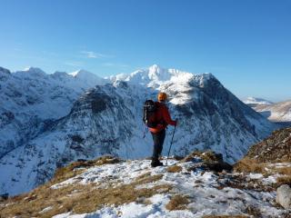 Stob Coire nan Lochan from the path up to the Aonach Eagach