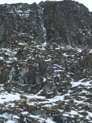 Arrow Chimney IV on Meall nan Tarmachan (Creag an Lochan) for Hughes Mountaineering
