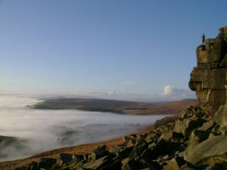 Cloud inversion at stanage