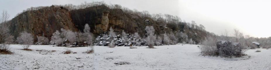 A wintery Trowbarrow Quarry