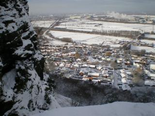 View of Helsby village from the hill