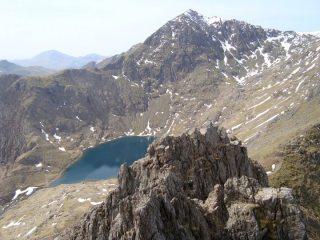 Snowdon summit from the ridge