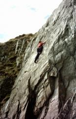 Solo on a crag in Co Down