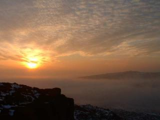 Burbage sunset in deep mid winter - not photoshoped!