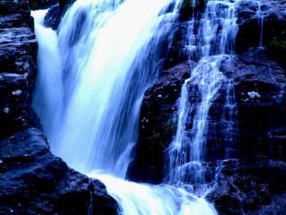 Waterfall in the Pass of Glen Coe
