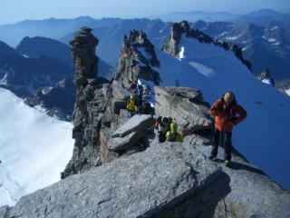 On summit of Gran Paradiso