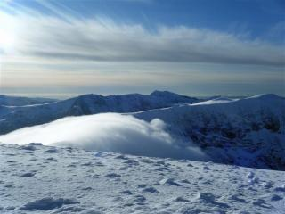 The Carneddau in perfect winter conditions.