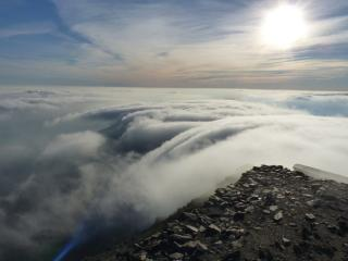 clouds over snowdon