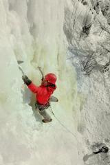 Leading @ Pirunkallio ice farm