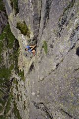 F Route on Gimmer Crag