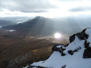 View on way up Liathach
