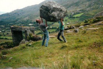 Dominic & Daniel Lee, bouldering. West Cork early 90's.