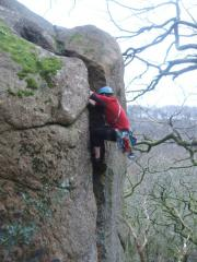 Mike Tibbits on Tower Crack, The Dewerstone