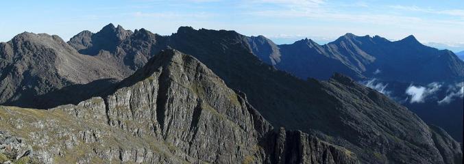 Cuillin ridge from Sgurr nan Eag