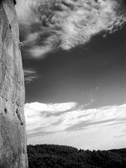 Audrey Seguy on a 6c at Montgaussier