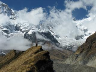 Approaching the Annapurna Sanctuary