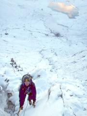 First ever winter route. Idwal Stream November 2010