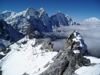 Ridge at Camp I Ama Dablam