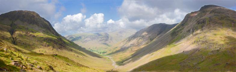 Lingmell and Great Gable from Corridor Route