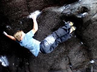 what now? Luke Dawson on the 2nd ascent?