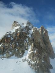 Aiguille Du Midi & Cosmiques Arete from the Cosmiques hut