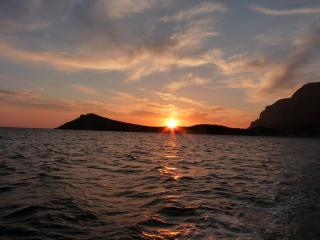 End of another perfect day in kalymnos