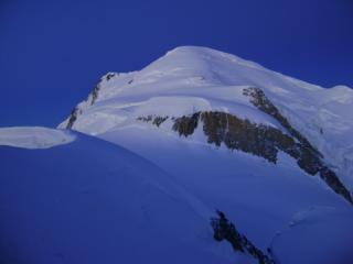 Early morning light on Mt Blanc The 3 monts route