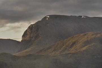 The dawn light striking the face of the mighty Ben Nevis