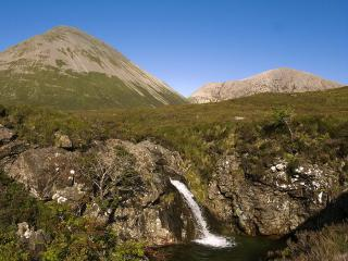 Glamaig and waterfall
