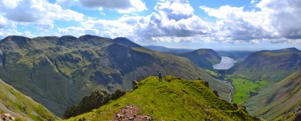 The view into Wasdale after climbing Needle Ridge (Great Gable)