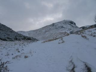 Arthur's Seat in the snow