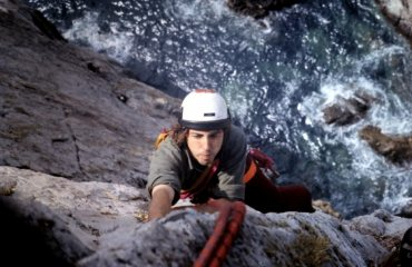 Quartz Icicle, Gogarth About 1970.  A very early ascent.