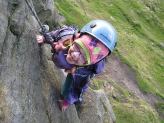 Meg enjoying a day out at Windgather Rocks