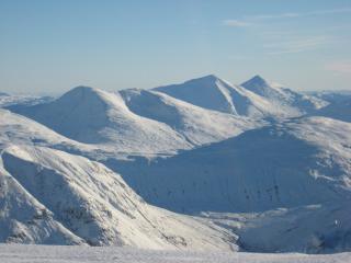 From Beinn Dorain looking at a winter wonderland