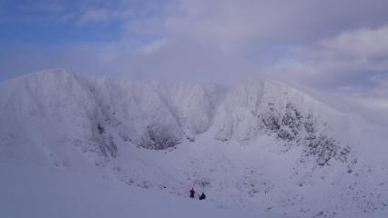 Lochnagar in winter garb