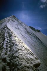 Snow arete, Midi - Plan traverse