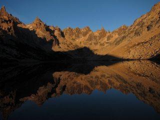 Sunrise over the lake at Frey, Argentina.